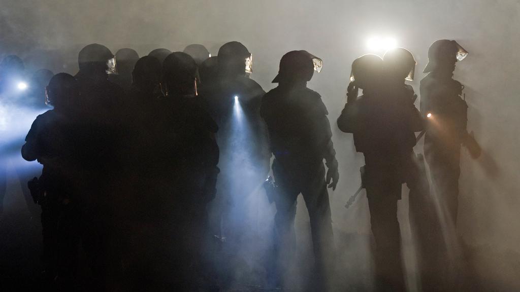 Německá policie brání konvoj s jaderným odpadem