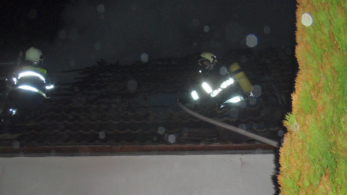 Požár rodinného domu v Halenkovicích