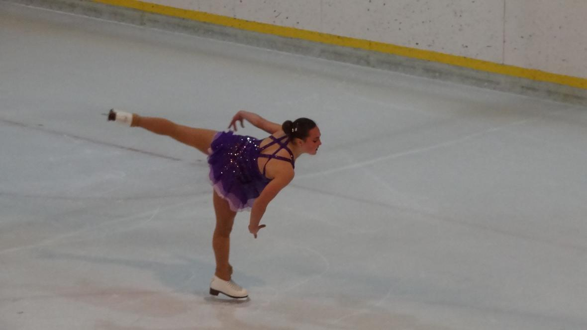 Darja Zajčenko při své stříbrné jízdě