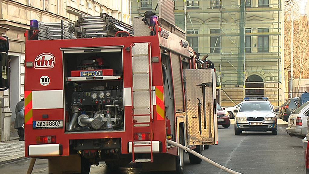 Požár na pražském Smíchově