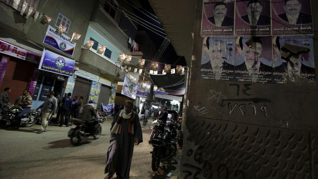 Ulice Egypta v předvečer voleb