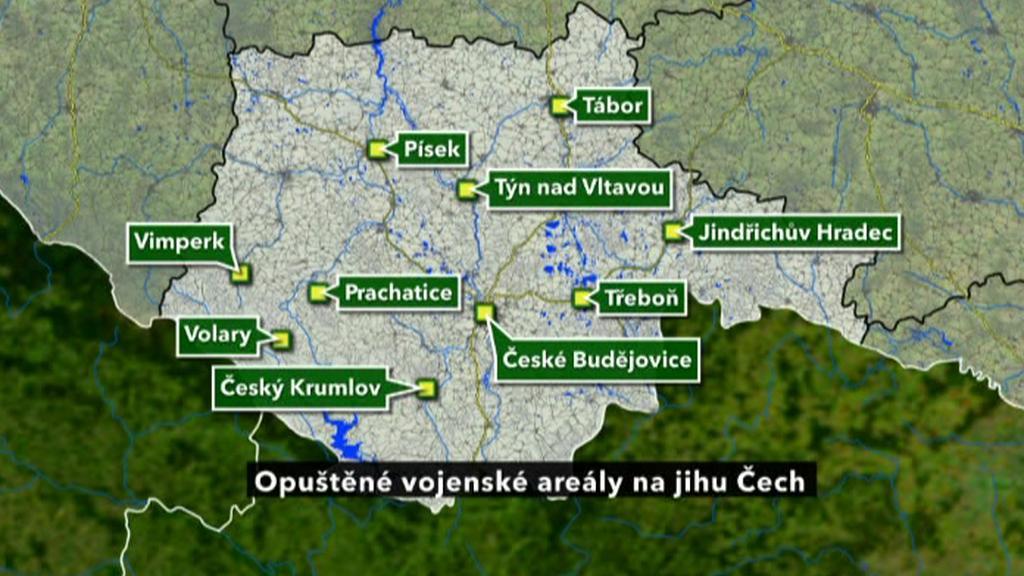 Opuštěné kasárny na jihu Čech