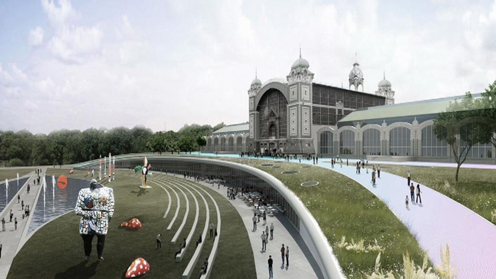 Vizualizace renovovaného výstaviště
