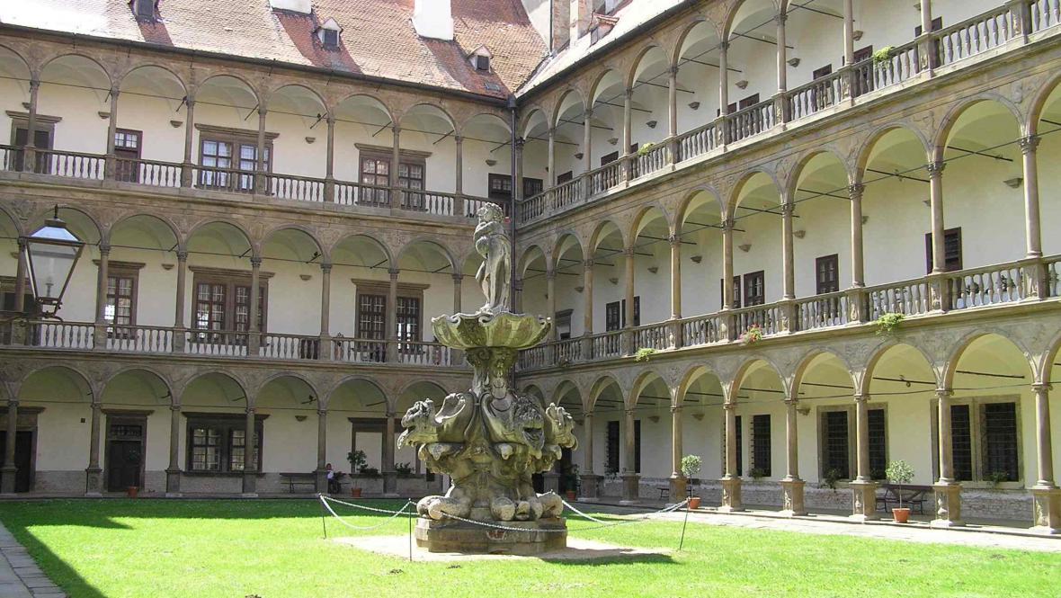 Bakchova fontána na zámku v Bučovicích