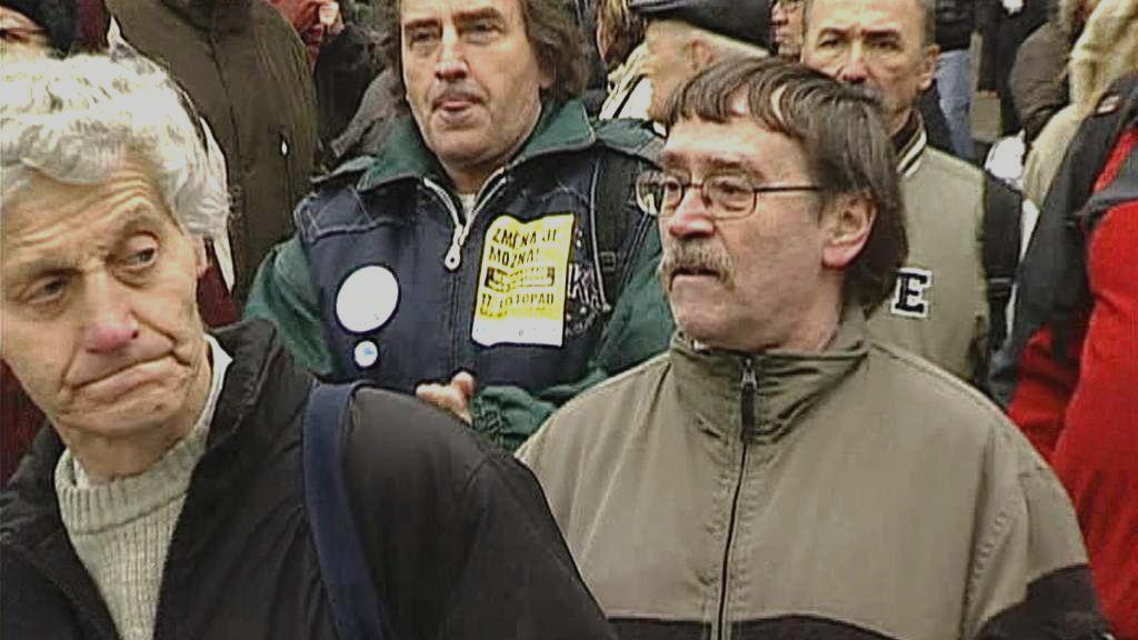 Demonstrace odborů proti korupci