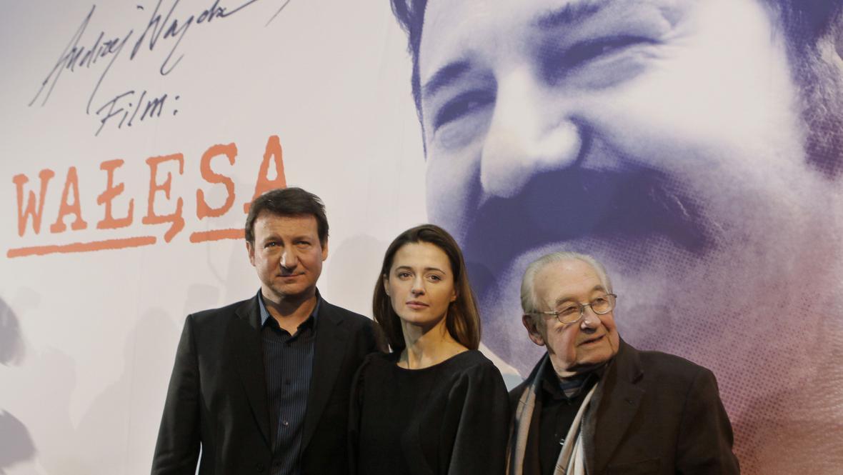 Andrzej Wajda, Agnieszka Grochowská a Robert Wieckiewicz