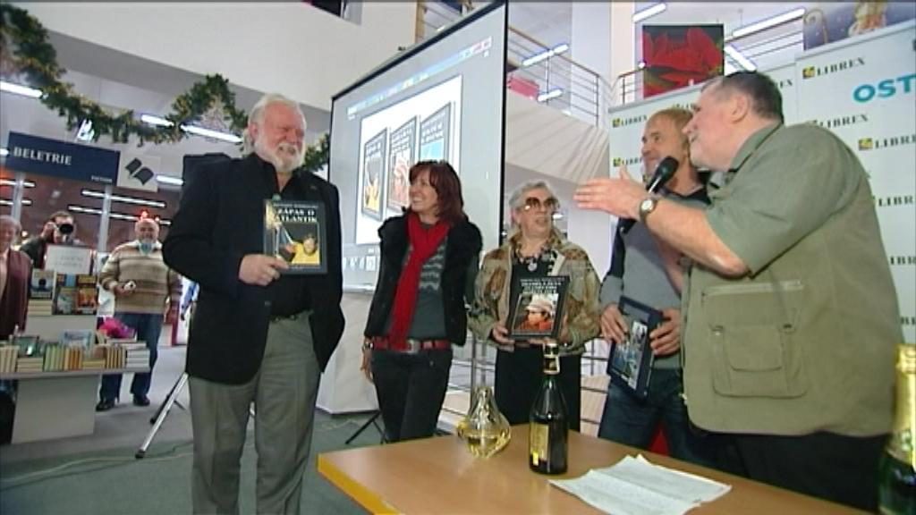 Richard Konkolski křtí své knihy