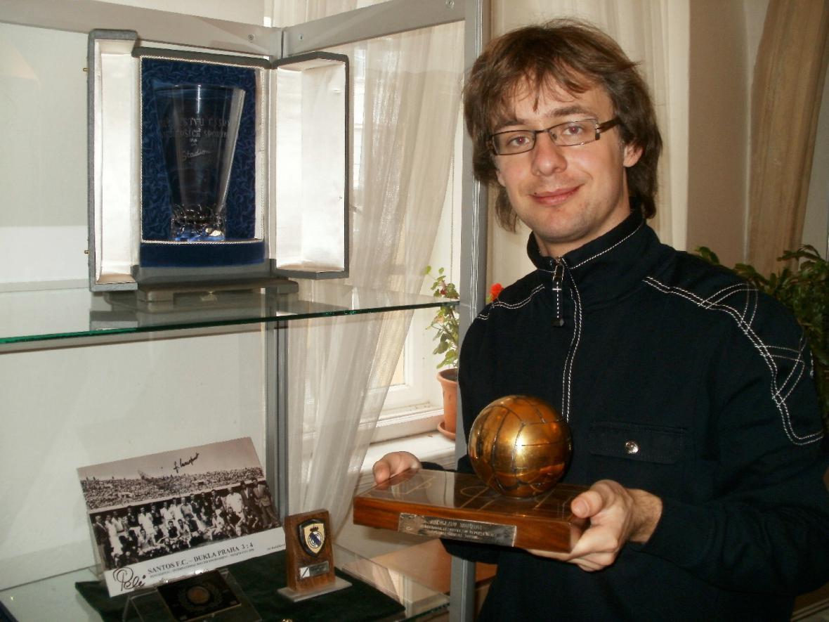 Martin Vostřel  s cenou Ladislava Nováka