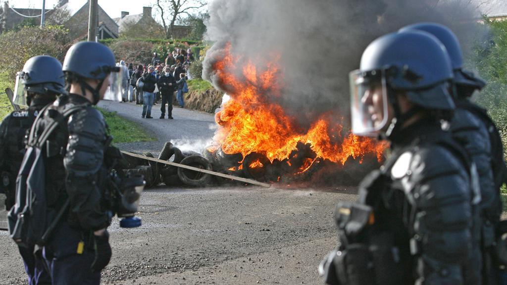 Protest proti přepravě vyhořelého jaderného paliva