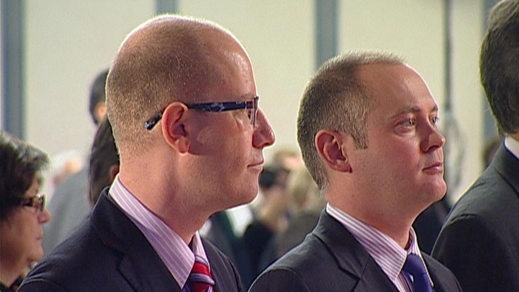 Bohuslav Sobotka a Michal Hašek