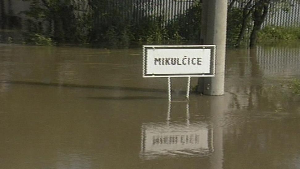 Povodně v Mikulčicích v roce 1997
