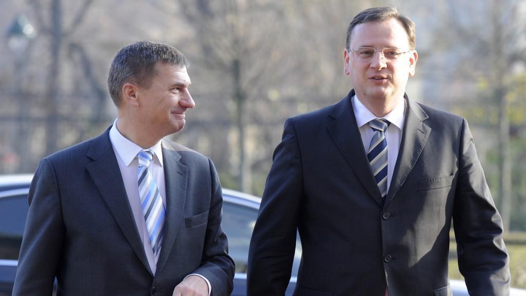 Andrus Ansip a Petr Nečas