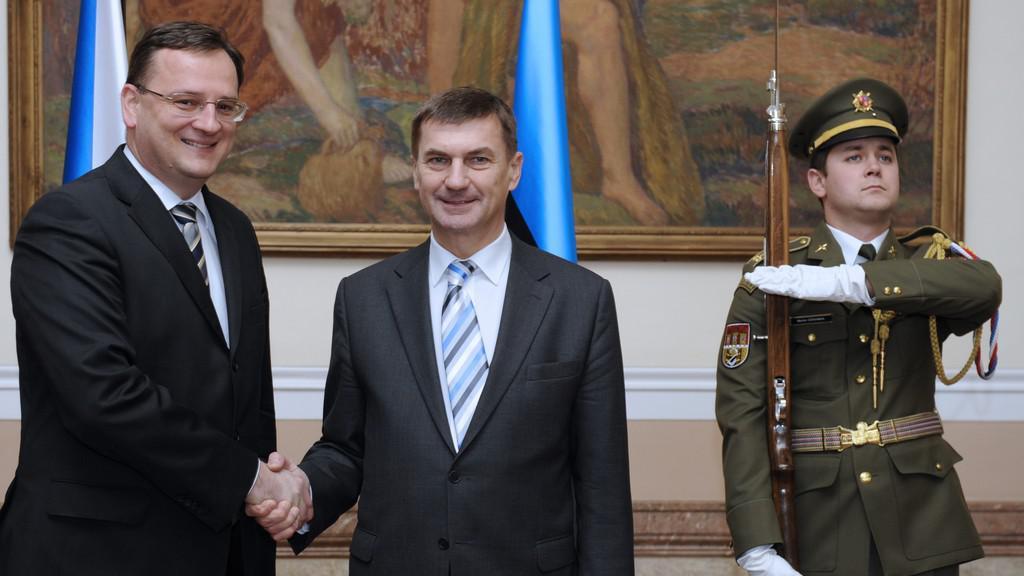 Petr Nečas a Andrus Ansip