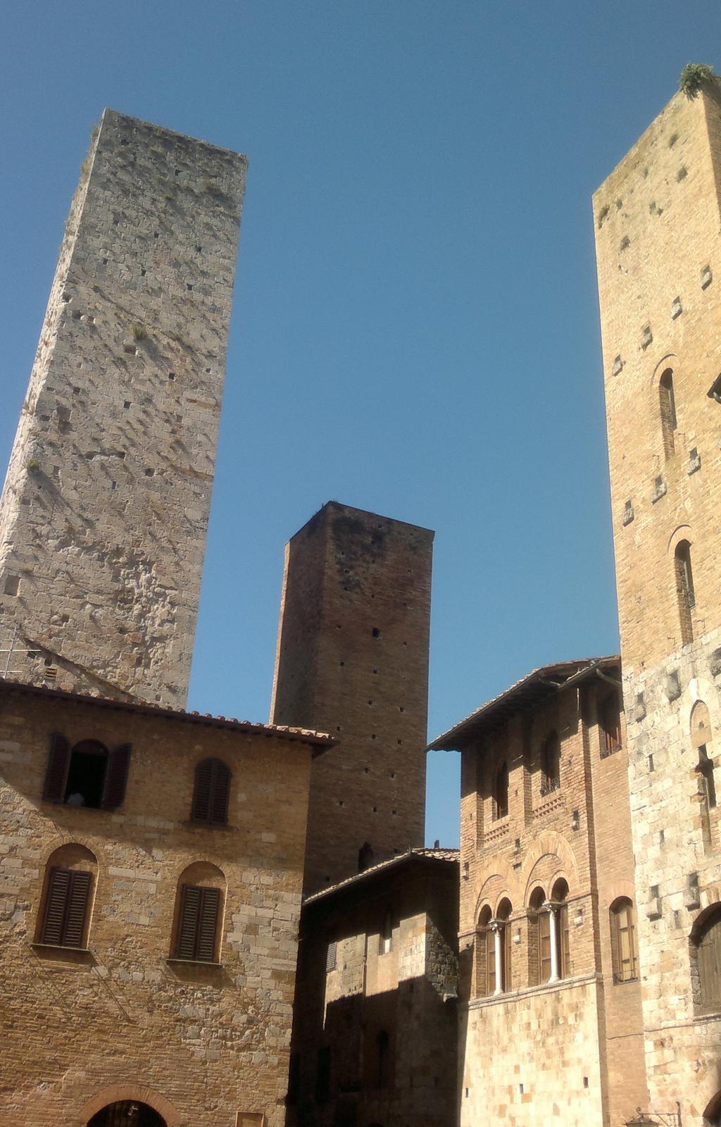 Obytné věže v San Gimignano