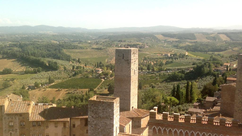 San Gimignano - pohled z věže