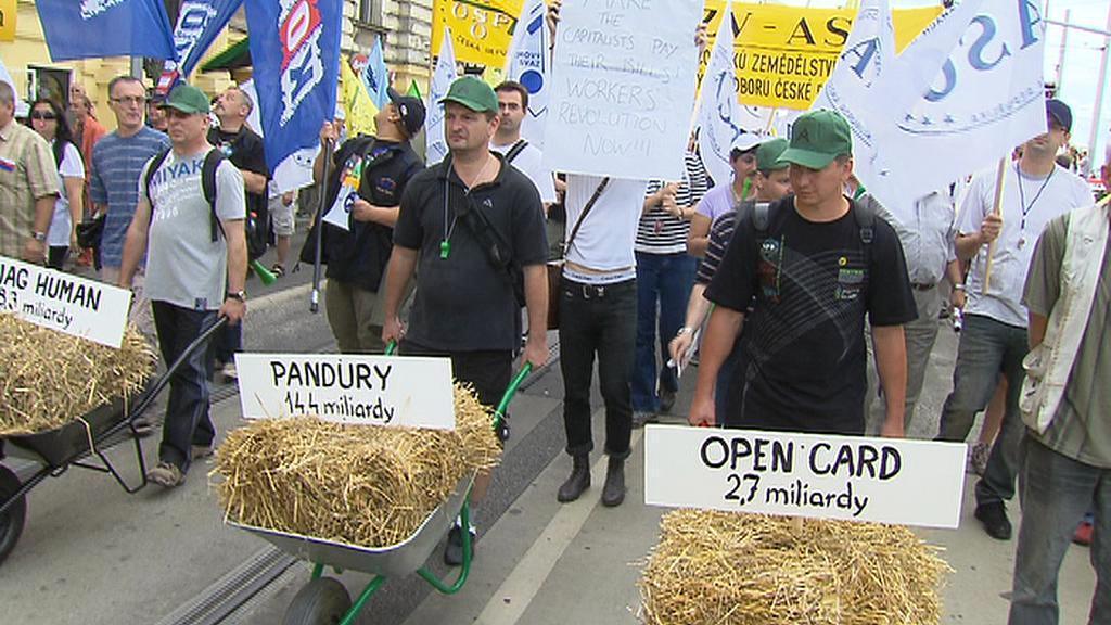 Protesty odborů