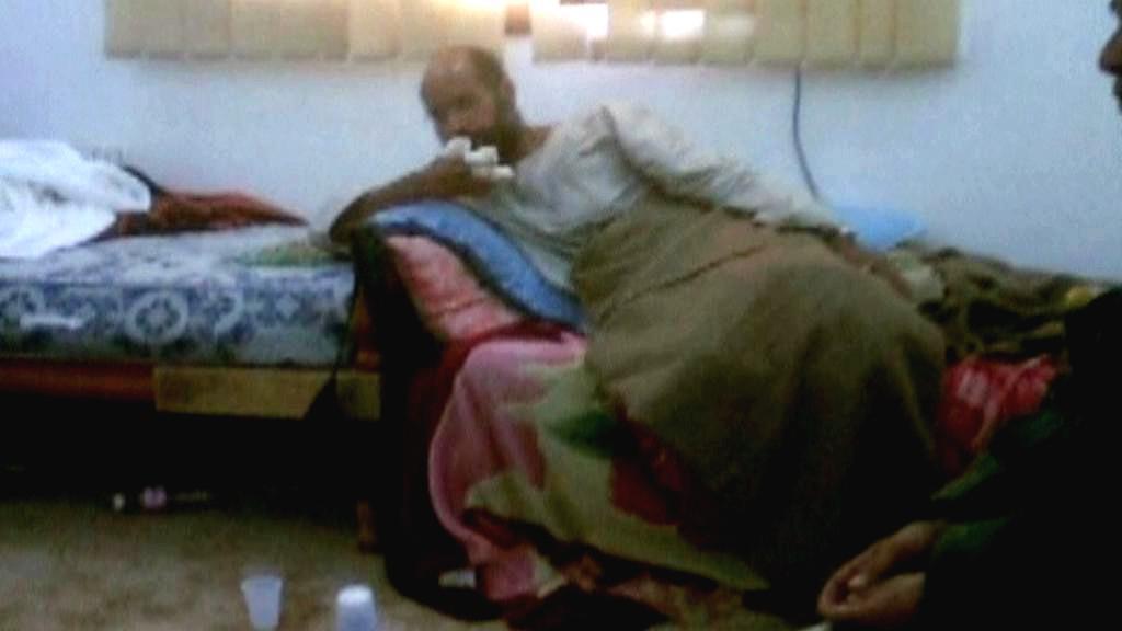 Foto Sajfa Isláma zveřejněné libyjskou televizí