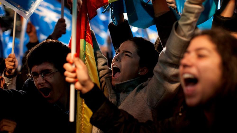 Španělské volební oslavy