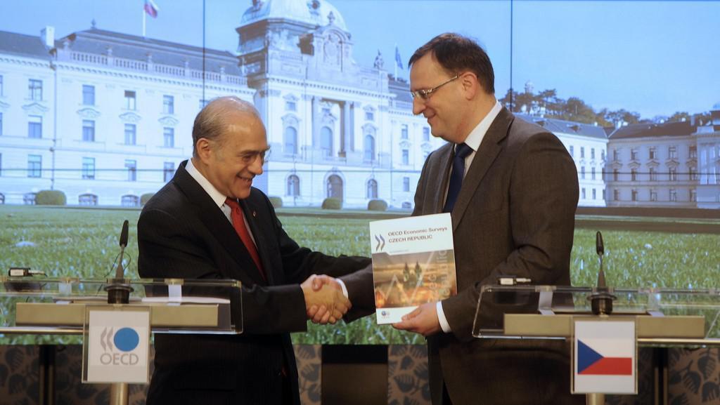 Petr Nečas a Ángel Gurría