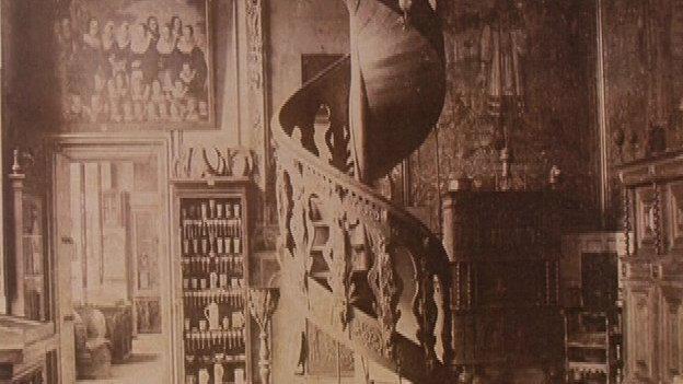 Dánské schodiště na historické fotografii