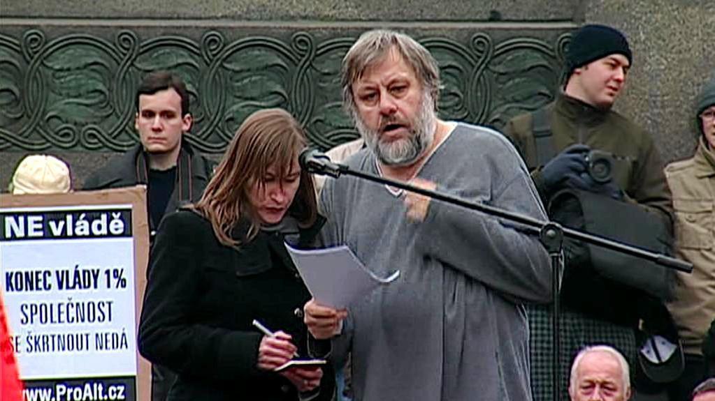 Slovinský filozof Slavoj Žižek