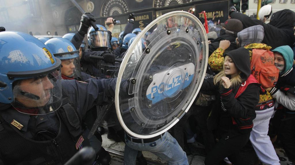Protesty v Miláně
