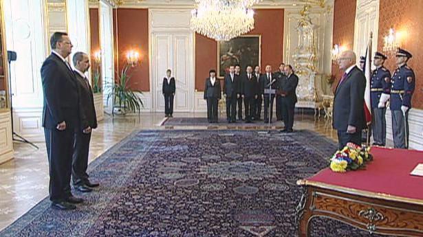 Martin Kuba při jmenování ministrem