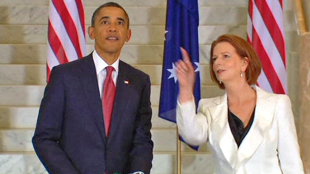 Barack Obama a Julia Gillardová