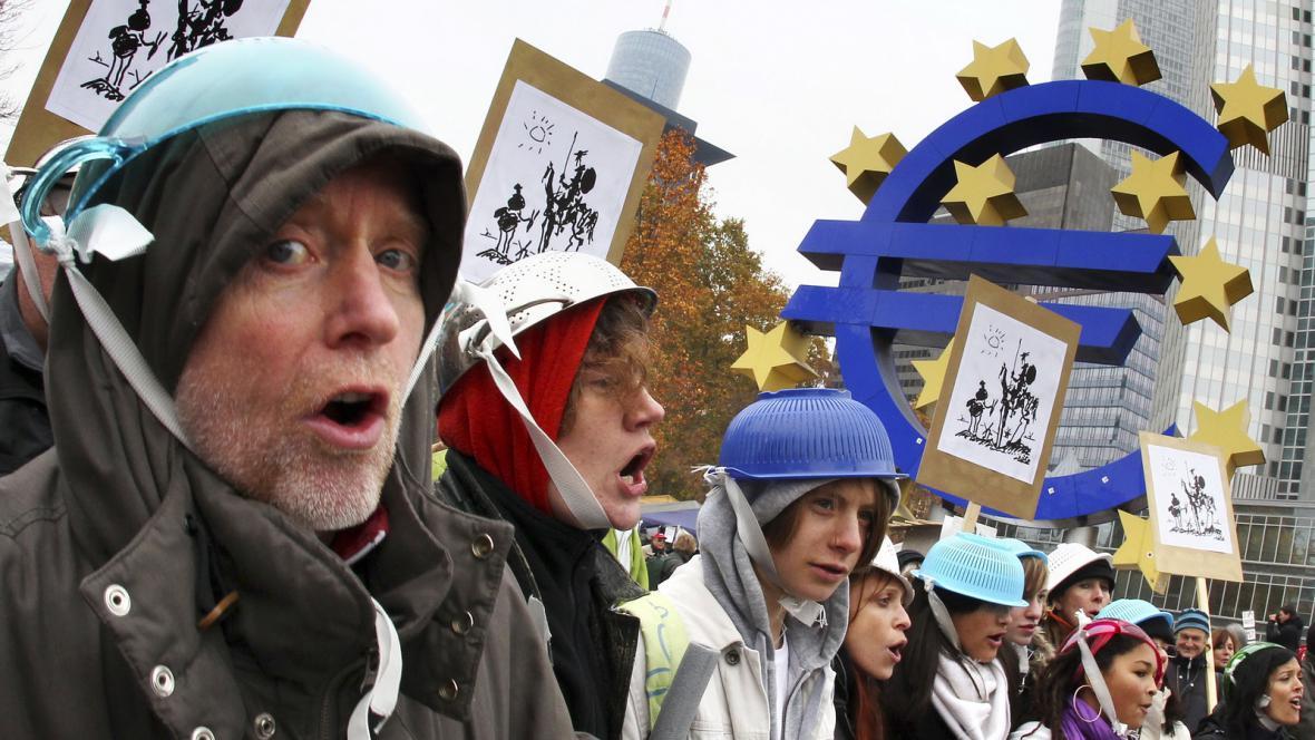 Protesty před ECB