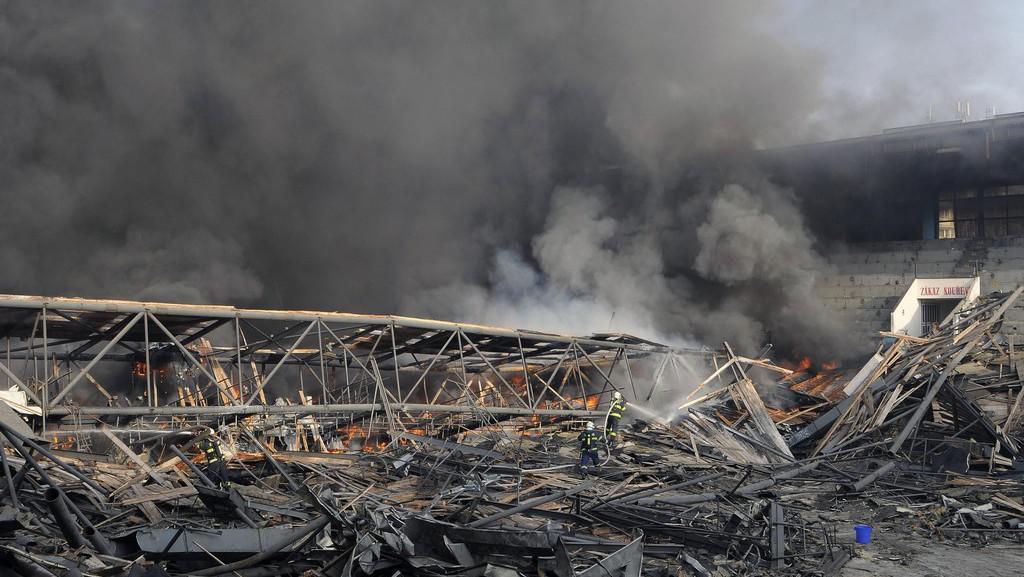 Požár stadionu v Teplicích