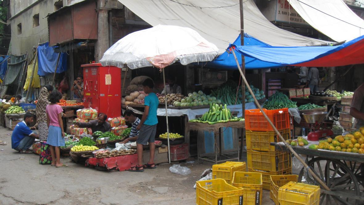 Indické tržiště