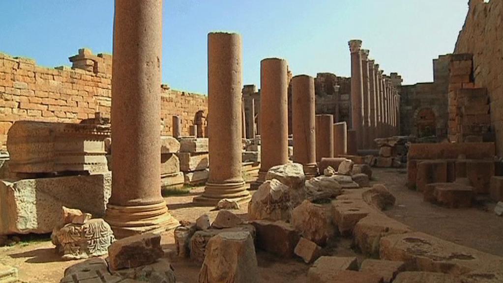 Libyjské město Leptis Magna