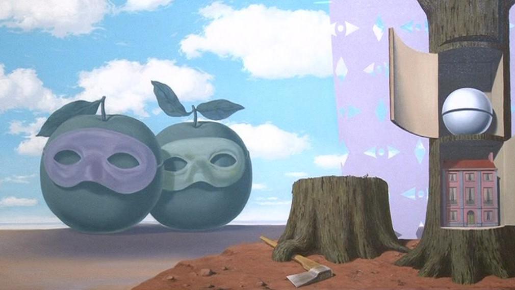 Jeden z Magrittových obrazů