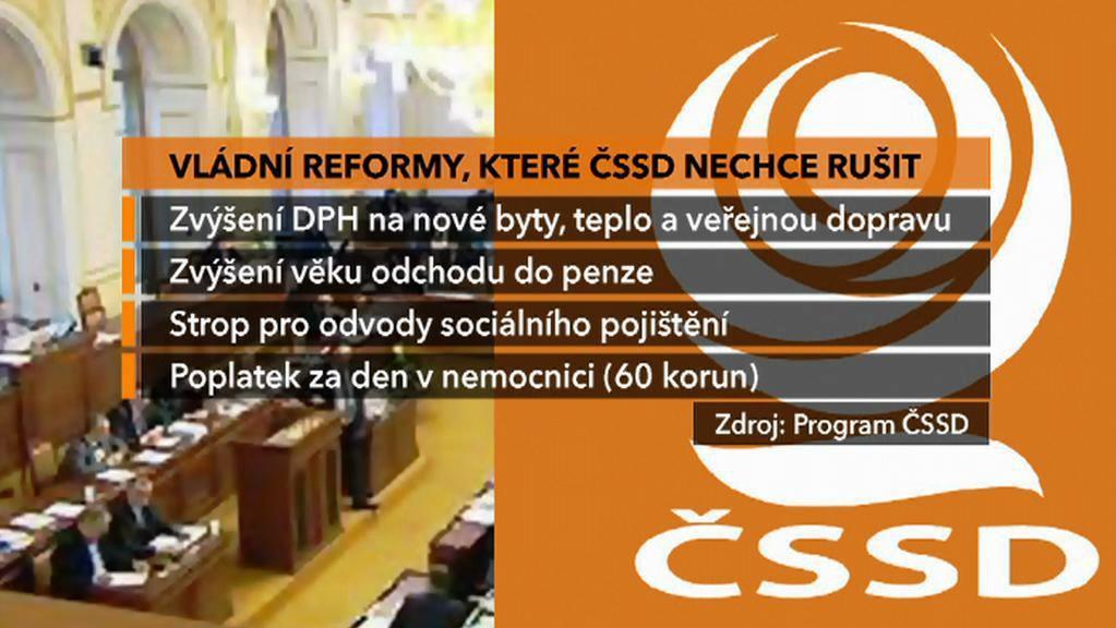 ČSSD - reformy, které nechce rušit