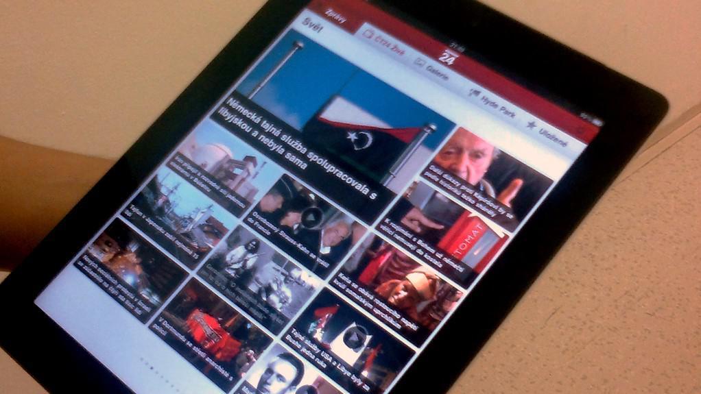 Aplikace ČT24 na iPadu