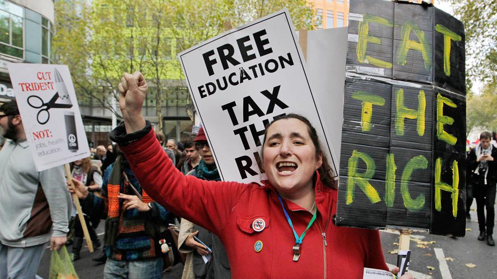 Britské protesty proti zvyšování školného