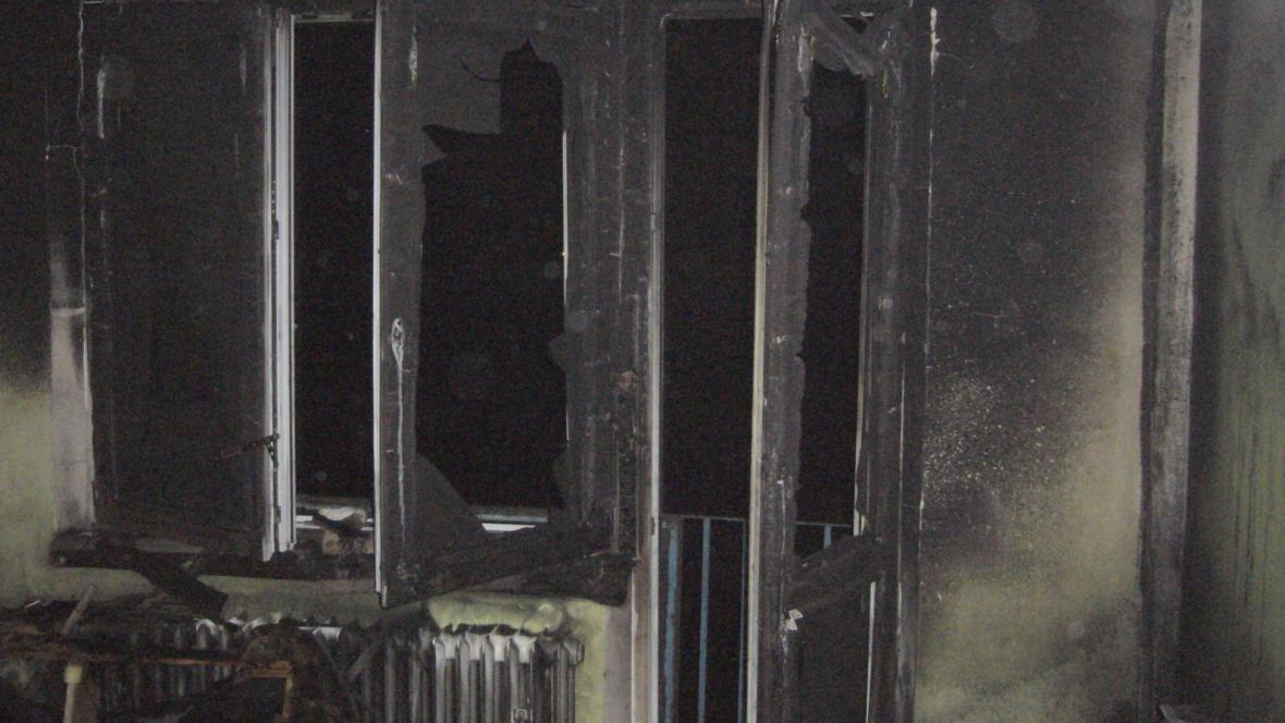 Byt, ve kterém byly děti, vyhořel