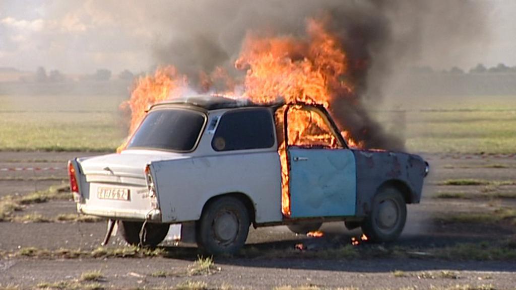 Požár trabantu