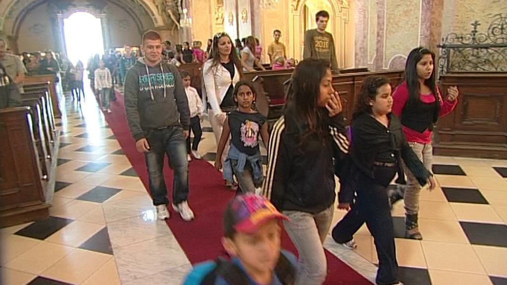 Romská pouť na Svatém Kopečku