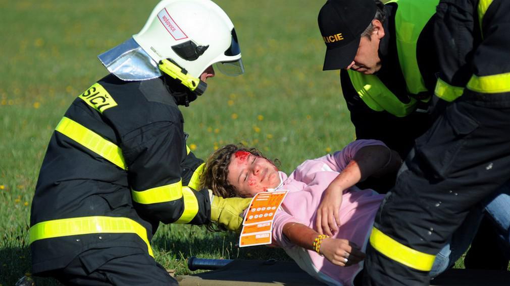 Cvičný zásah u nehody letadla
