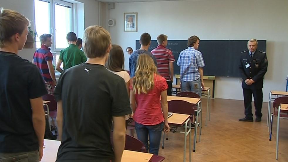 Studenti Střední policejní školy v Holešově