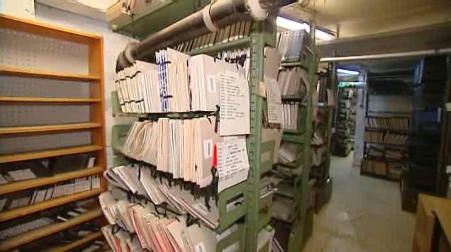 Suterén vědecké knihovny