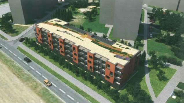Vizualizace nového bytového domu