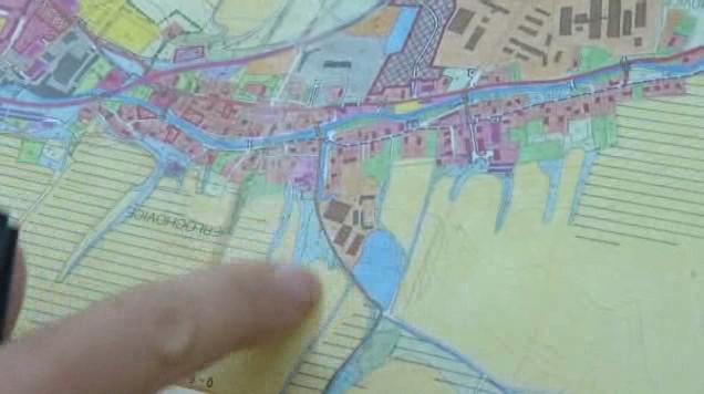 Ohrožená oblast na mapě