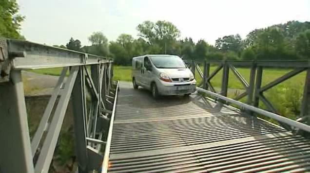 Provizorní most u jezu