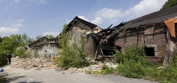 Zřícený dům v Ostravě