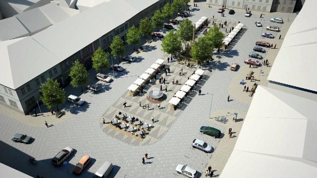 Projekt rekonstrukce mohelnického náměstí
