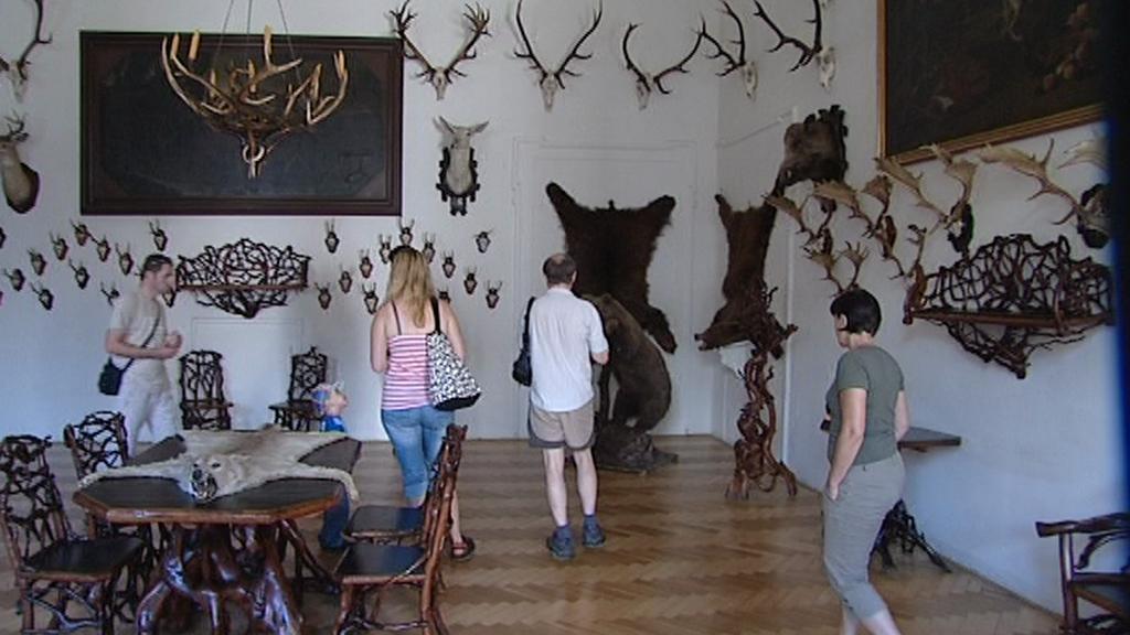 Návštěvníci na hradě Úsov