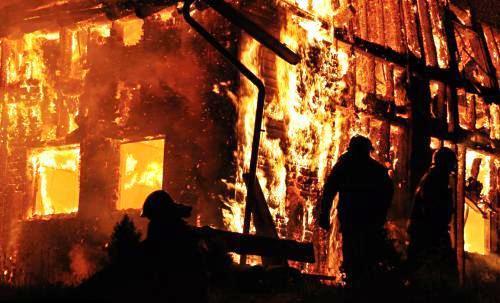 Požár penzionu v Oskavě na Šumpersku