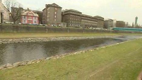 Řeka v centru Ostravy